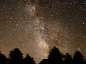 The Milky Way set at a 60º angle to the Earth
