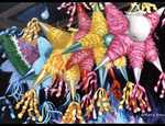Piñata were originally a Chinese paper festival toy decorated with colored paper