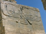 Assyrian Phoenix rising in rebirth