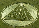 Euclidean geometry in crop circle at Chesterton, Harbury, Warwickshire 2009