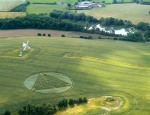 optical pyramid; Euclidean geometry in crop circle imagery