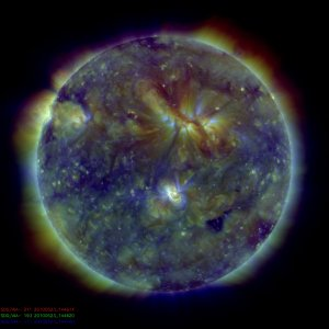 Ultraviolet sun: the Sun seen through three lenses