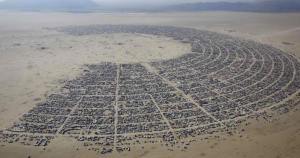 Burning Man annual late summer festival in Black Rock Nevada desert