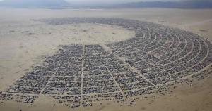 Burning Man annual late summer festival in Black Rock Nevada desert