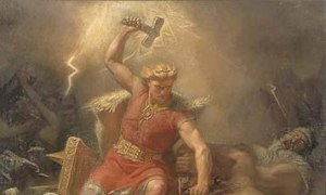 NORSE Thor, GOD of Thunder Lightning & the ethers struck bolts of fear in Viking hearts