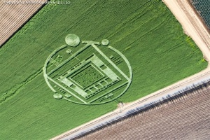 Rancho Chualar cropcircle December 30th, 2013, highlights the 1. 9. 2. and π 3.14159265359 ad infinitum