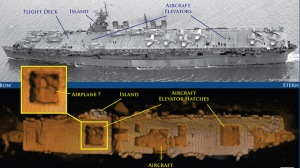 Damaged in WWII, aircraft carrier US Independence found intact April 2015 in Pacific waters carrying nuclear waste
